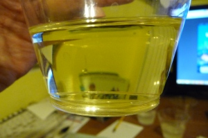 Oil solvent (t=3), clear.